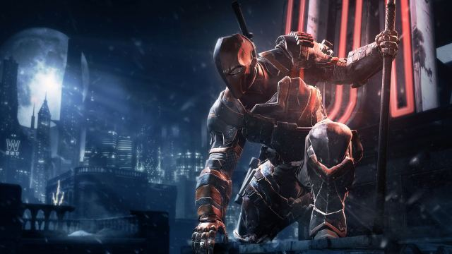 Deathstroke enjoying the remaining six hours of Arkham Origins from far, far away.