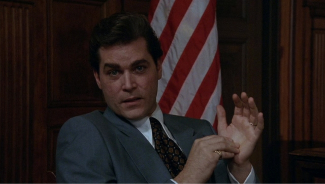 Do you have any idea how hard it is to find a stupid picture of the stupid scene where Ray Liotta talks to the stupid camera?