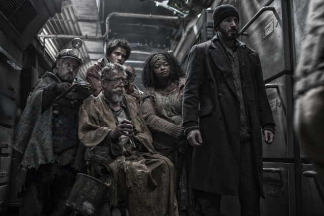 Snowpiercer displays the typically vibrant color palette of most dystopian romps.